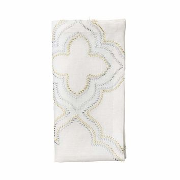 Tangier Napkins in White, Gold, & Silver - Set Of 4