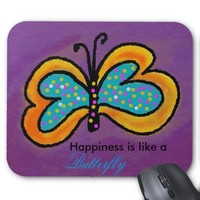 Butterfly on Purple Mousepad