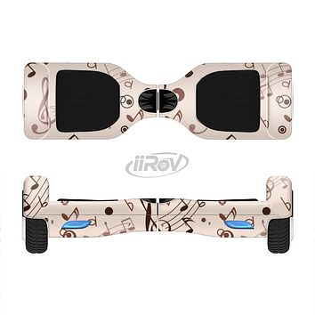 The Tan Music Note Pattern Full-Body Skin Set for the Smart Drifting SuperCharged iiRov HoverBoard