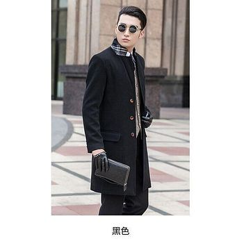 new arrival coat male woolen overcoat slim outerwear trench obese plus size S M L XL 2XL 3XL 4XL 5XL 6XL 7XL 8XL 9XL 10XL