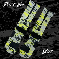 Splatter Series Volt Custom Nike Elite Socks | Rock 'Em Apparel
