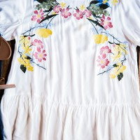 Jane Embroidered Top, Off White