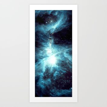 Orion Nebula Teal  Art Print by GalaxyDreams