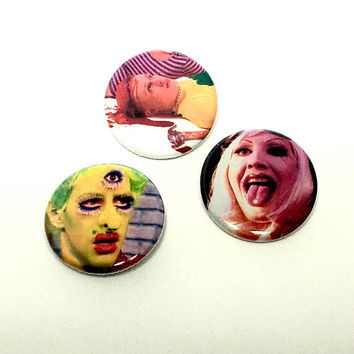Party Monster Movie Pin Set Pinback Button Pin Badge x3