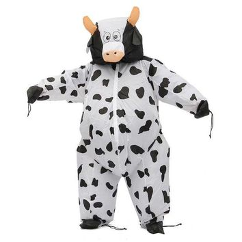 DCCKH6B SUMO Fancy Dress Cosplay Performance Fan Inflatable Cows Toy Costume Suit Christmas Party 170cm Fat Blow Up Dress + Hat