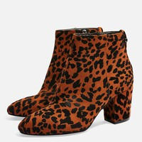 **WIDE FIT BRITTNEY Leopard Unit Boots | Topshop