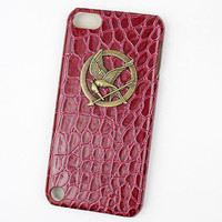 hunger games mockingjay And Red Hard Case Cover  for Apple Ipod Touch 5, iPod Touch 5th,iTouch 5,iPod Touch 5