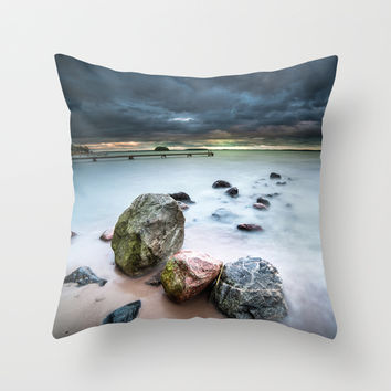 Dead on arrival Throw Pillow by HappyMelvin