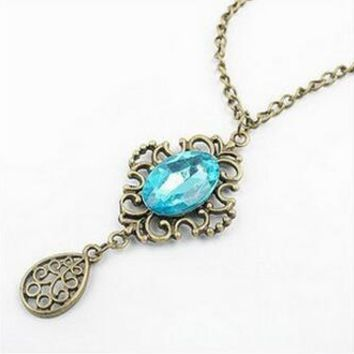 Droplets Sweater Chain Long Necklace For Women