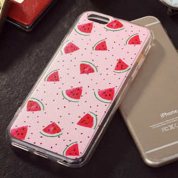 Hot Sale Hot Deal Iphone 6/6s On Sale Stylish Cute Korean Watermelon Apple Fruits Iphone Creative Soft Phone Case [4915483652]