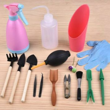 Mini Garden - Hand Held Tool KIT Tools (Set FOR BONSAI)