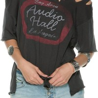 FREE PEOPLE ALL TORE UP GRAPHIC TEE