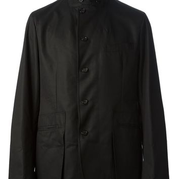 Alexander Mcqueen Leather Collar Jacket