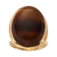 Apt. 9 Oval Cabochon Ring (Yellow)