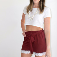 Game Day Maroon Shorts