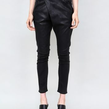 X-Over Jeans in Waxed Black