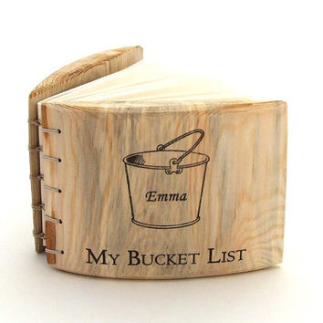 Bucket list, Bucket List Journal, Personalized journal, My Bucket List, Eco Gift, unique gift, bucket list notebook, Sketchbook, notebook