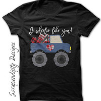 Toddler Boy Valentine Shirt, Kids Valentine Shirt, Baby Boy Valentine Outfit, Kids Valentine Tshirt, I Wheelie Like You, Monster Truck Shirt