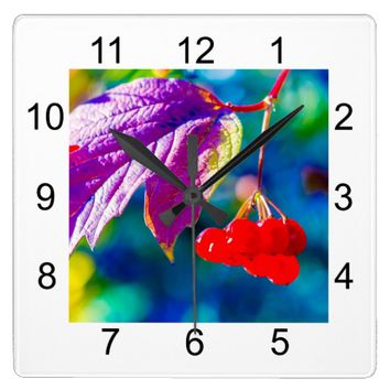 Arrowwood Beauty Square Wall Clock
