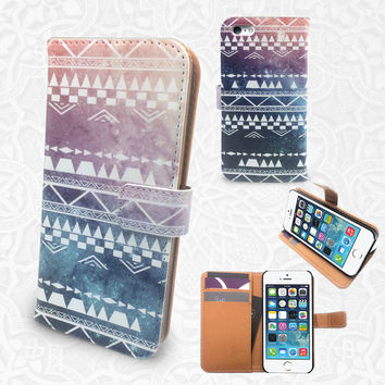 Tribal Pattern iPhone/smartphone flip leather Wallet case for iPhone 6, 6 plus, 5, 5s, 5c, iPhone 4, 4s- Samsung GalaxyS5 S4 S3, Note 3, 4