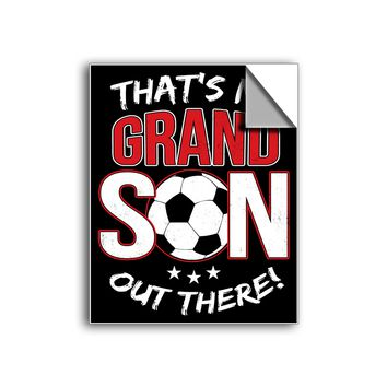 "FREE SHIPPING - ""Grandson - Soccer"" Vinyl Decal Sticker (6"" tall) - Limited Time Only!"