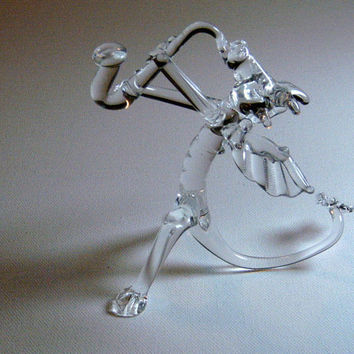 Glass Jazz Dragon Playing Saxophone by LeoStudios on Etsy