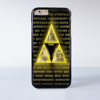 The Legend Of Zelda Triforce Plastic Case Cover for Apple iPhone 6 6 Plus 4 4s 5 5s 5c