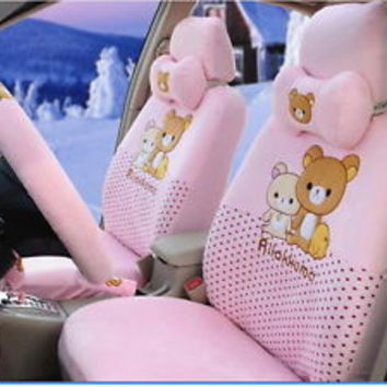 New Rilakkuma Car Seat Covers Accessories Set 18PCS TL-075R