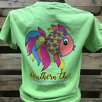 SALE Southern Chics Preppy Fish Comfort Colors Bright Girlie T Shirt