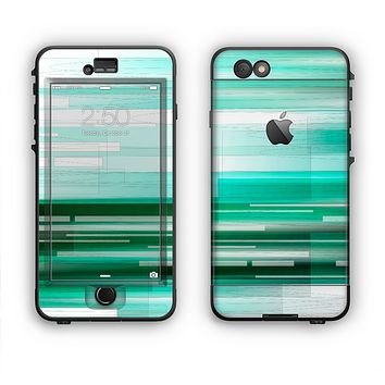 The Green Abstract Vector HD Lines Apple iPhone 6 LifeProof Nuud Case Skin Set