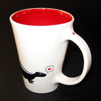 Skunk Mug by janiceblahblah on Etsy