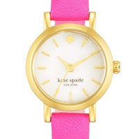 Women's kate spade new york 'tiny metro' leather strap watch, 20mm
