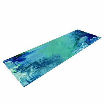 "Ebi Emporium ""Winter Dreamland 6"" Green Blue Yoga Mat"