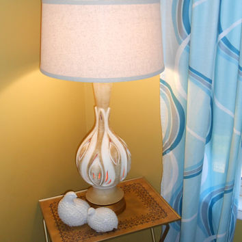 Mid Century Lamp Ceramic Pottery Lamp Nightlight Lamp Mod Lighting Modern Lamp