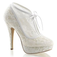 Lolita 32 Ivory Lace Boot Style Wedding Shoe