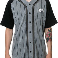 The Burris Baseball Jersey in Concrete Heather & Black