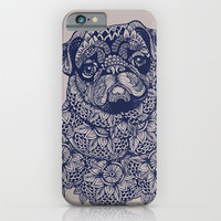 MANDALA OF PUG iPhone & iPod Case by Huebucket