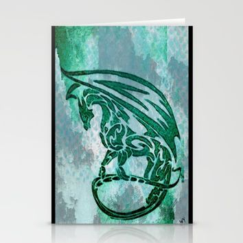 Green dragon  Stationery Cards by Jessica Ivy