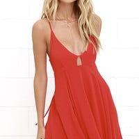 Samana Bay Coral Red Dress