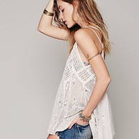Free People Womens Patchwork Crochet Tunic -