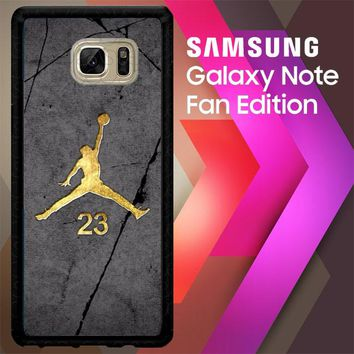 Air Jordan 23 Gold Z5304 Samsung Galaxy Note FE Fan Edition Case