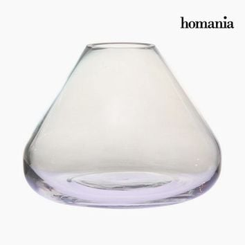 Vase Crystal Transparent (18,8 x 18,8 x 15 cm) by Homania