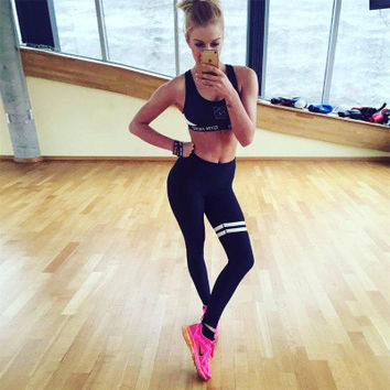 Women Floral Printed Floral Printed Sport Suit Fitness Sportswear Stretch Exercise Yoga  Trousers Pants _ 10458