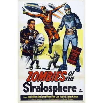 Zombies Of The Stratosphere Movie poster Metal Sign Wall Art 8in x 12in