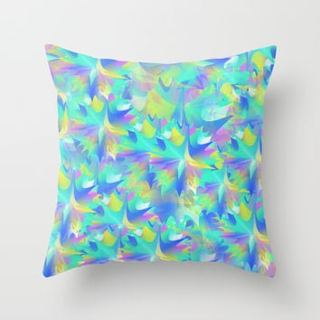Aquatic Tie Dye Throw Pillow by KJ53321