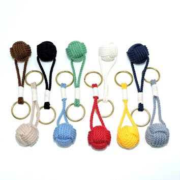 Monkey Fist Key Chain, Traditional, Nautical Colors
