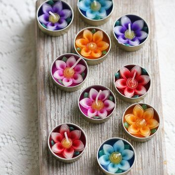 little lotus tealights at ShopRuche.com