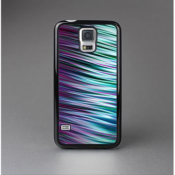 The Pink & Blue Vector Swirly HD Strands Skin-Sert Case for the Samsung Galaxy S5