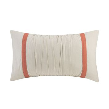 HH Kalia Ruched Throw Pillow (White)