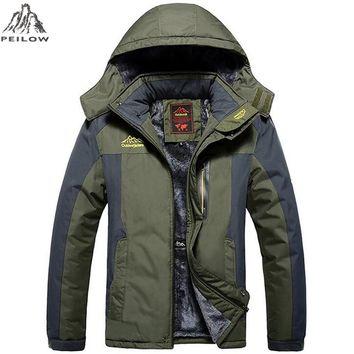 winter jacket men Waterproof windproof velvet warm parka coat Tourism Mountain overcoat